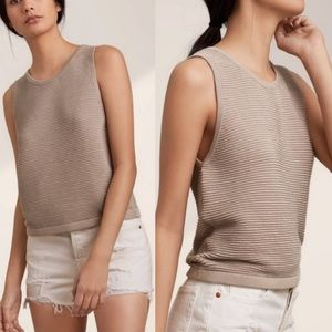 Aritzia Babaton Alrik Sleeveless Knit Top Size Med
